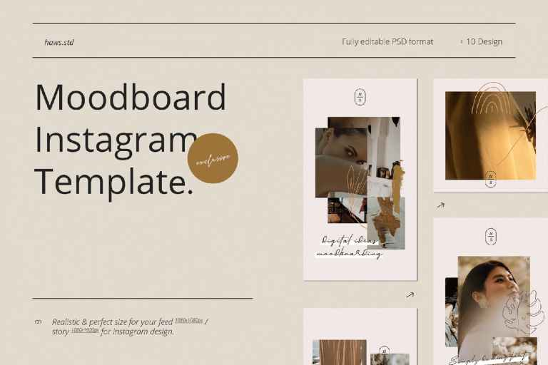 Moodboard Instagram Template Big collection