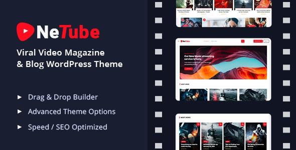Netube v1.0.4 - Viral WordPress Video Template