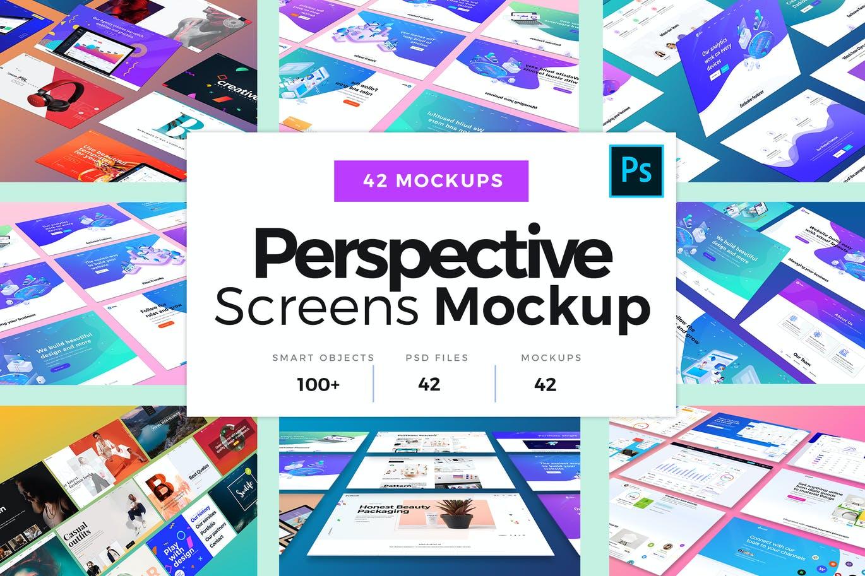 Perspective Screens Mockup Bundle