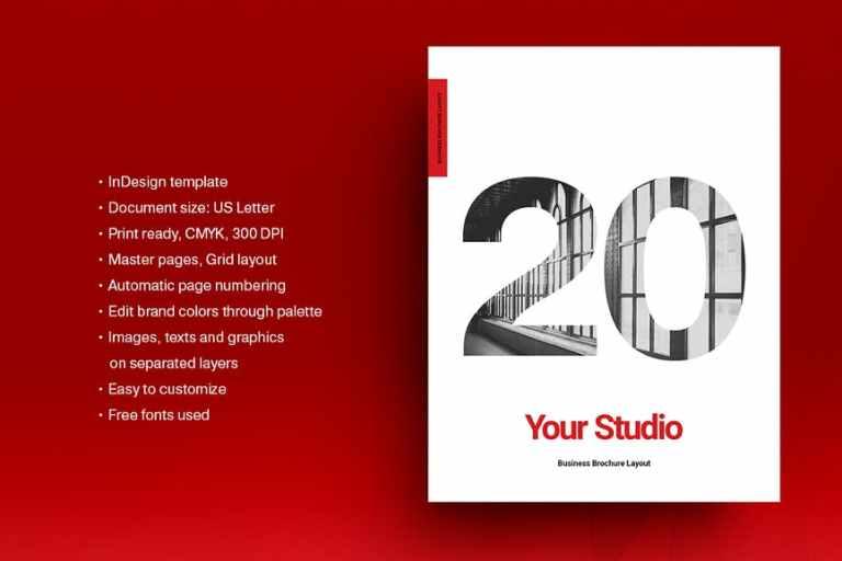 Red Agency Brochure Template