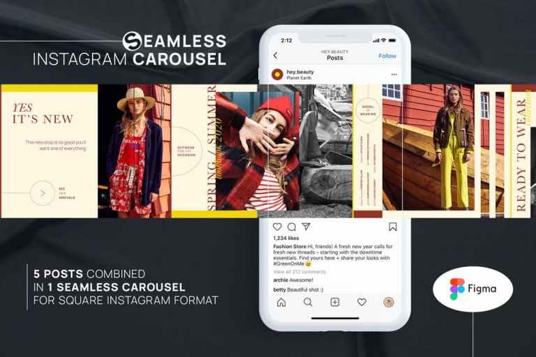 Seamless Instagram Carousel - Figma