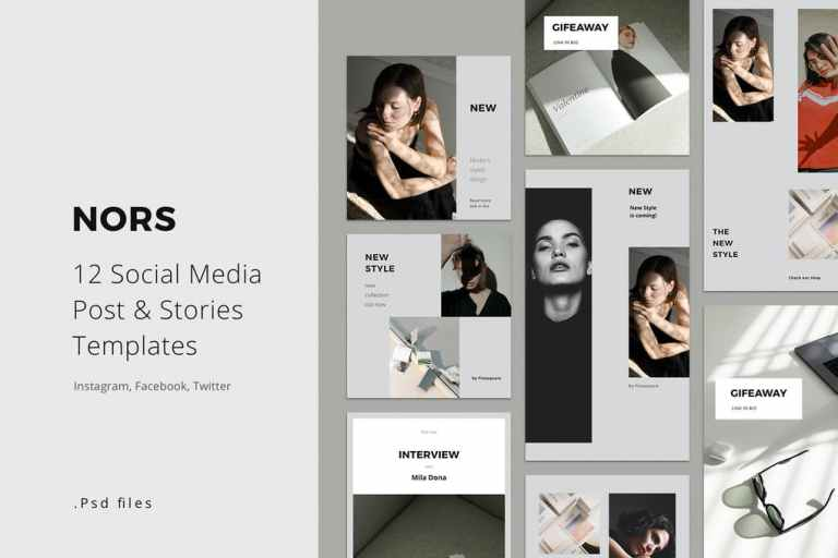 Social Media Pack Posts and Stories Template