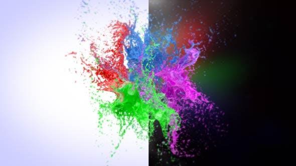 Splashing Paint Logo Reveal II