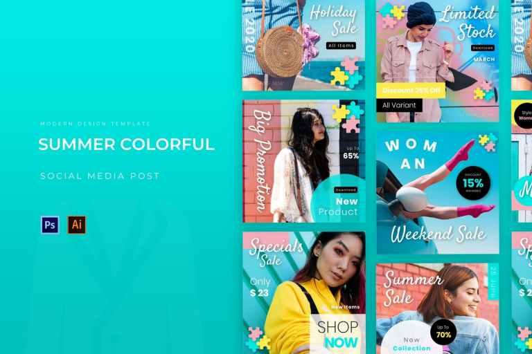 Summer Colorful Instagram Post