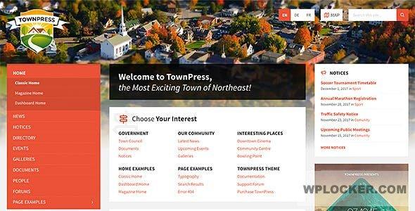 TownPress v3.3.2 - City / Town WordPress Template