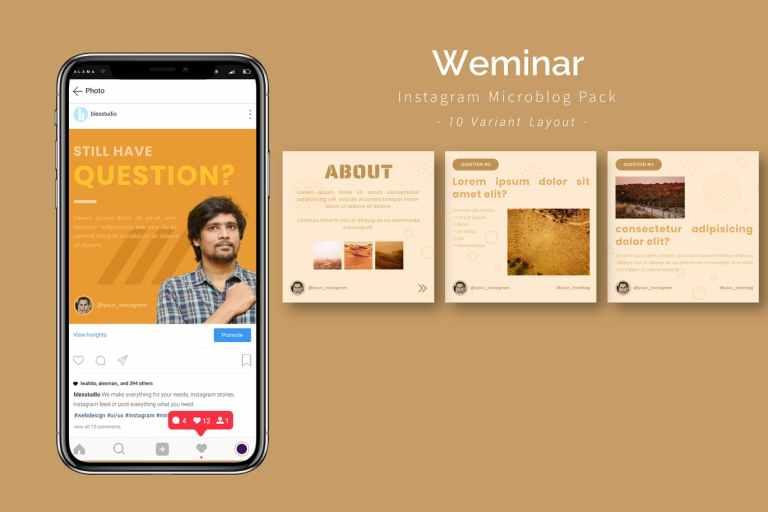 Weminar - Instagram Microblog Pack