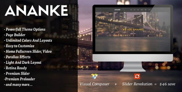 Ananke v3.8.2 - One Page Parallax WordPress Theme