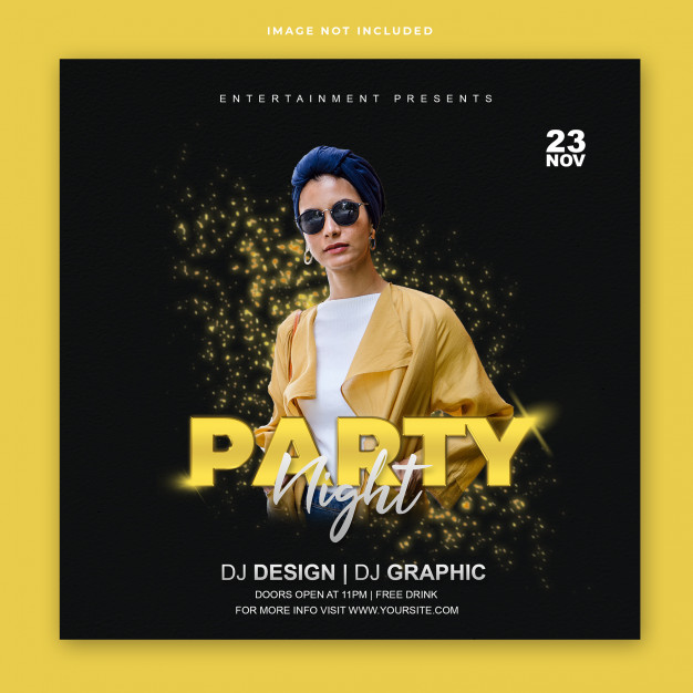 Club party instagram post banner