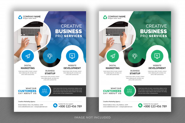 business marketing agency brochure cover template