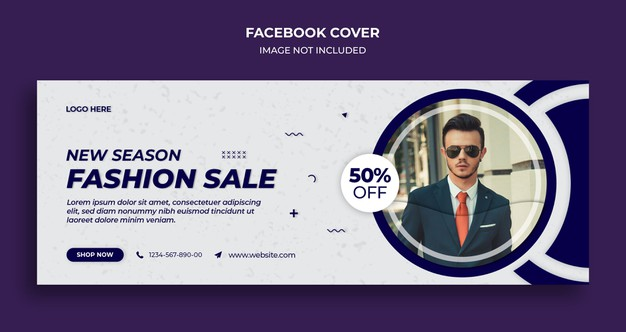 Fashion facebook timeline cover template