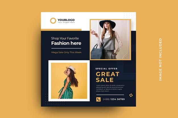 Fashion social media banner template Premium Psd