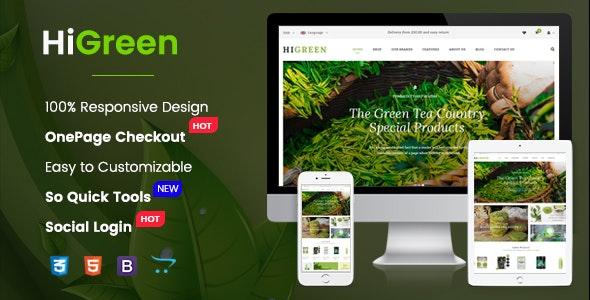 HiGreen v1.0.1 - universal template for OpenCart 2