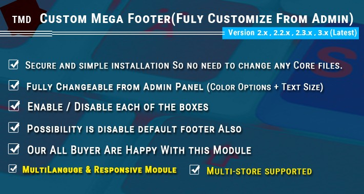 Mega Footer 3.x & 2.xx - Advanced OpenCart Footer