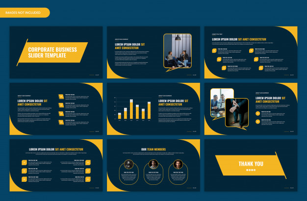 Modern corporate startup business presentation slider template design Premium Psd