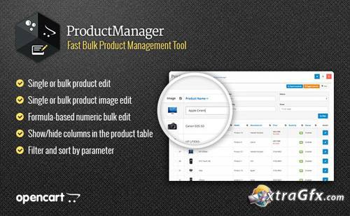 ProductManager v4.1.4 - fast product management OpenCart