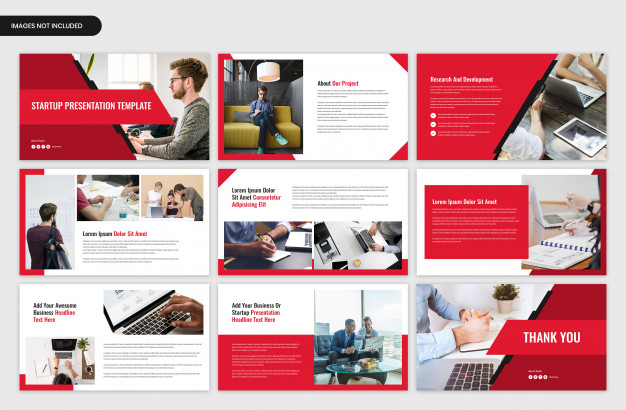 Startup project overview and business presentation template