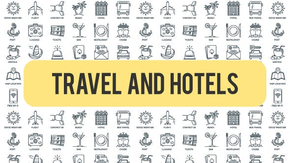 Travel And Hotels - Outline Icons