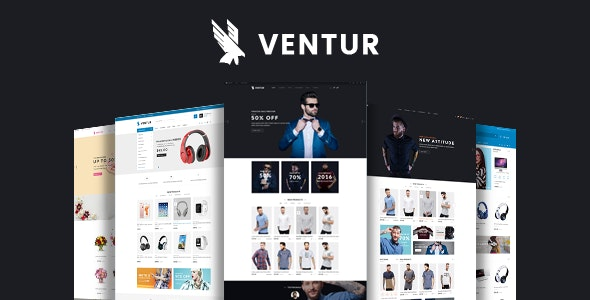 Ventur - online fashion store template for OpenCart 3