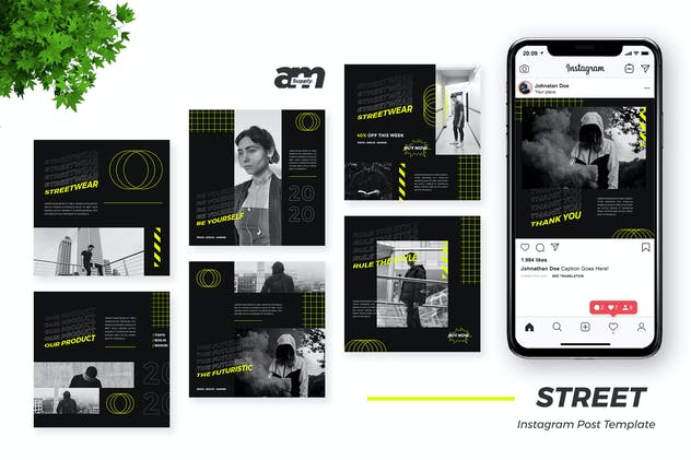 1. Street - Streetwear Instagram Post Template