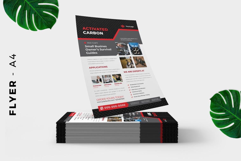 Carbon - Metal Product Flyer Design