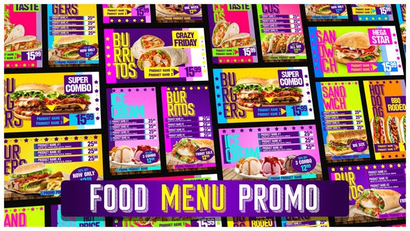 Food Menu Restaurant Promotion