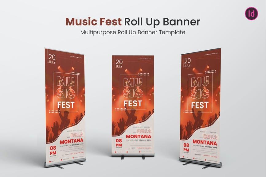 Music Fest Roll Up Banner