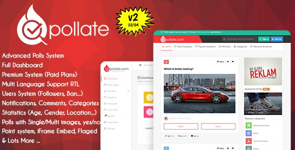 Pollate v2.0 - premium polling and voting platform
