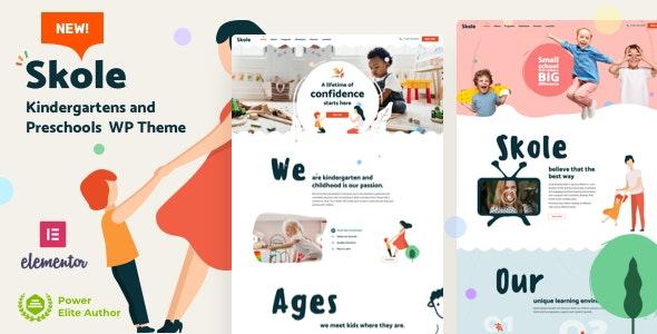 Skole - Kindergarten WordPress