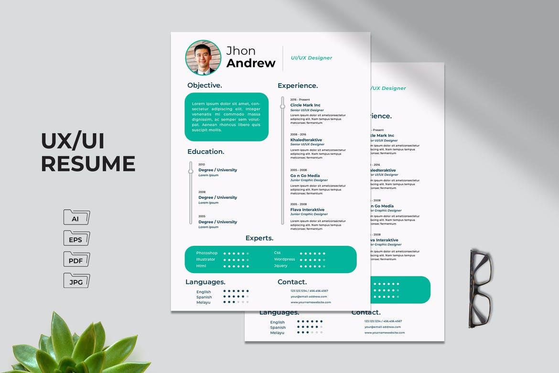 UX - UI Resume Template