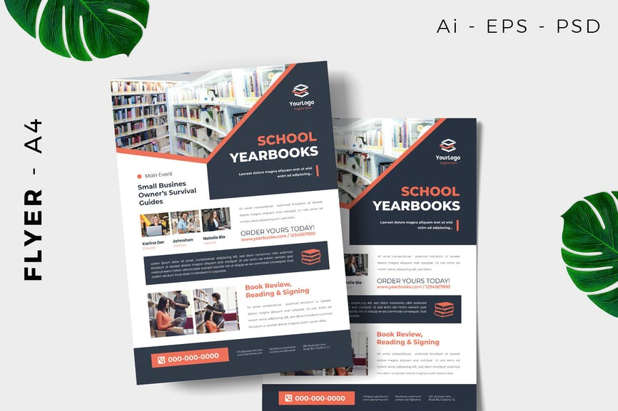 Year Book Launching Flyer Design
