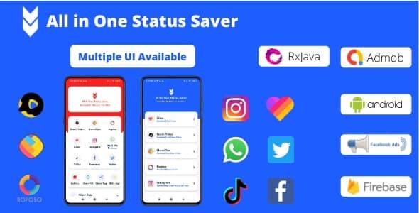 All in One Status Saver - SnackVideo, ShareChat, Roposo, Likee, Whatsapp, FB, Insta, TikTok, Twitter
