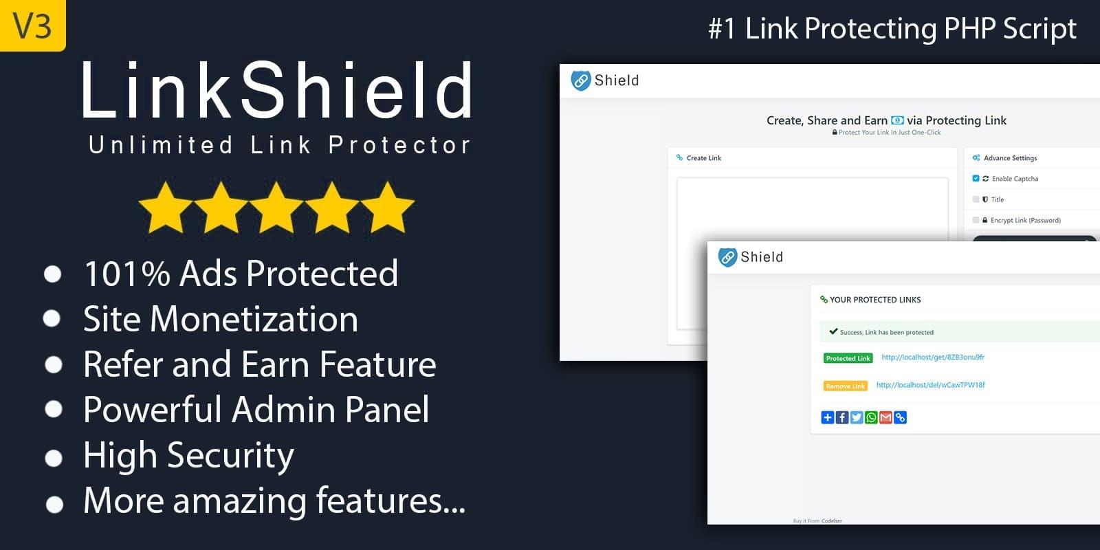 LinkShield - link protection script