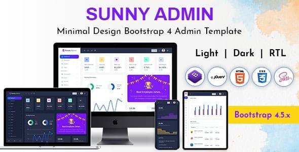 Sunny Bootstrap Admin Dashboard HTML Template
