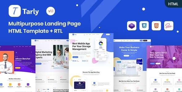 Tarly - Multipurpose Landing Page HTML Template