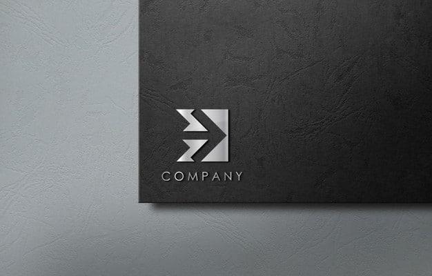 3d logo mockup for business company Premium Psd