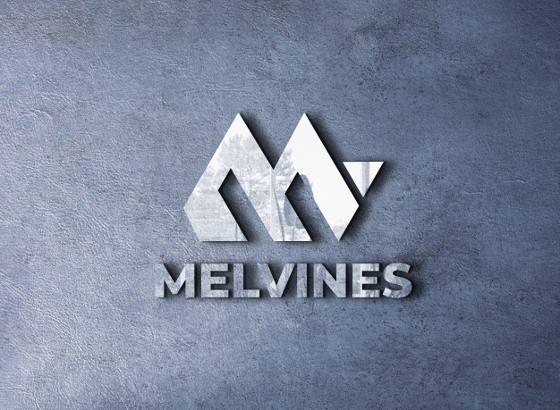 3d mockup logo on a wall with reflection Premium Psd