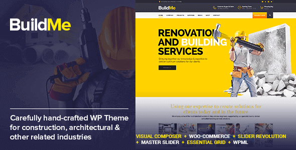 BuildMe v4.5 - WP Construction Theme