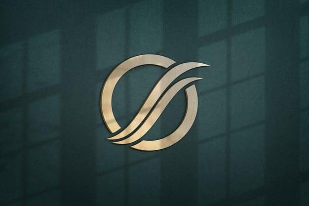 Close up on beautiful logo mockup design Premium Psd
