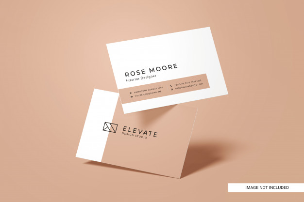 Front view business card mockup Premium Psd