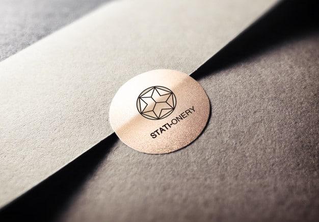 Logo design mockup Premium Psd