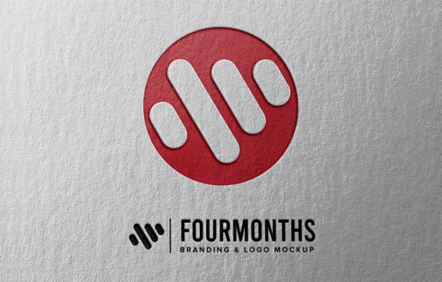 Logo mockup with paper emboss effect Premium Psd