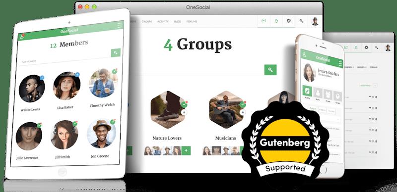 OneSocial Premium Template For BuddyPress