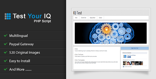 Test Your IQ v1.1 - script for determining the IQ of visitors