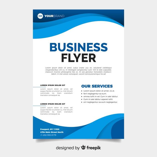 Abstract business flyer template Premium Vector