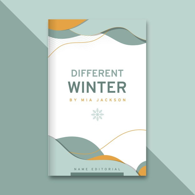 Abstract elegant winter book cover Free Vector