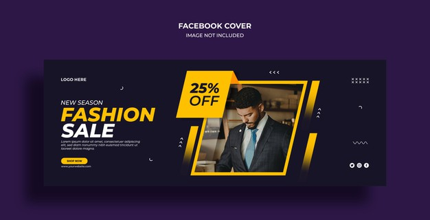 Black friday sale facebook timeline cover and web banner template Premium Psd
