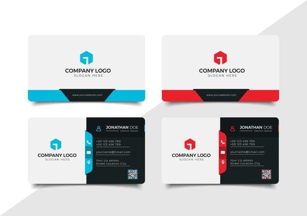 Business card template Premium Vector