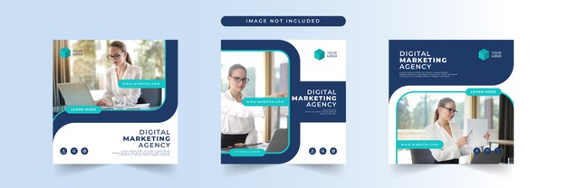 Digital business marketing social media post template Premium Vector