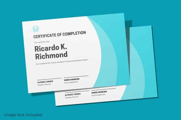 Elegant certificate mockup design isolated Premium Psd