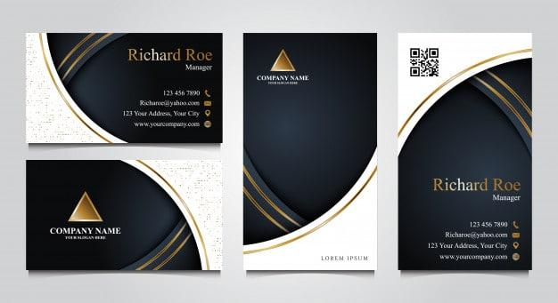 Luxury business card template set Premium Vector